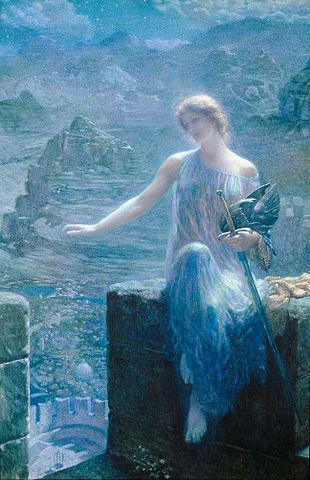 The Valkyrie's Vigil by Edward Robert Hughes