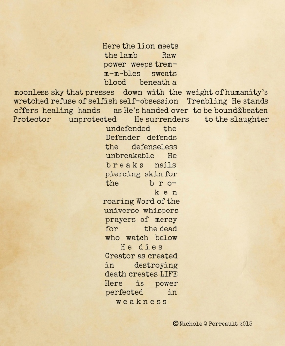Lion and the Lamb Concrete Poem