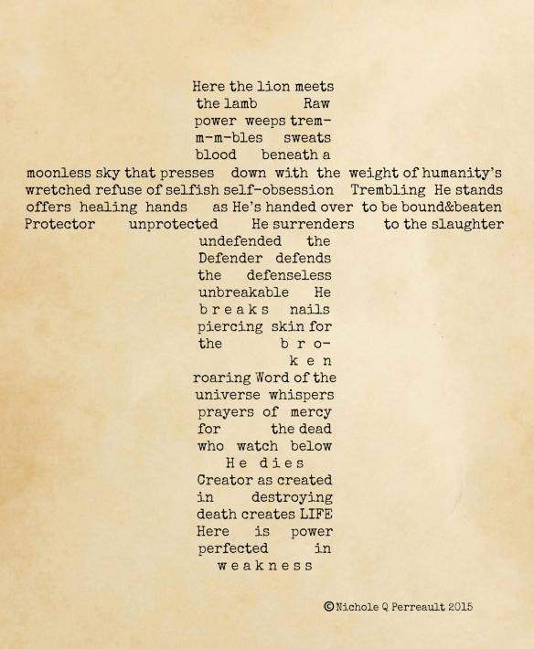 Lion and the Lamb Concrete Poem