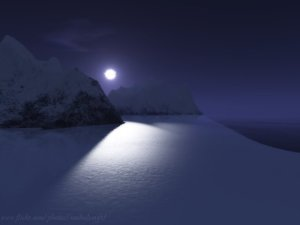 Moonlight on the Snow Shelves by R Singh | CC BY 2.0