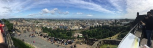 From the top of Edinburgh Castle; PC: Christina