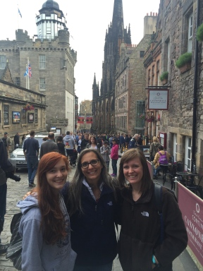 Near the top of the Royal Mile